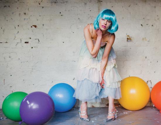 Rainbow bridel editorial photoshoot