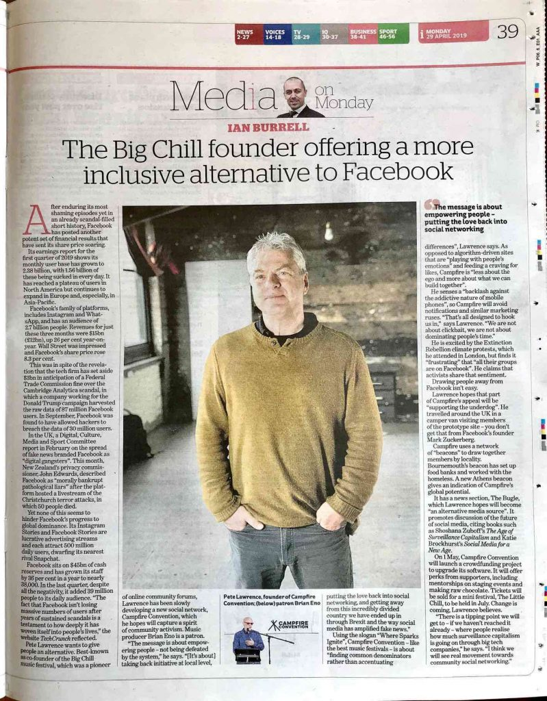 pete lawrence the independent article
