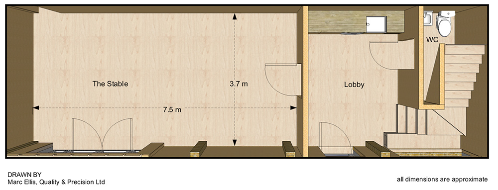the stable studio floor plan brighton